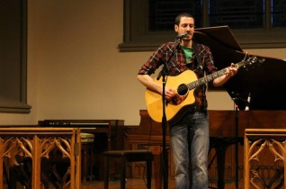 Joe Wilkins and Meg Hutchinson at the Crowell Chapel